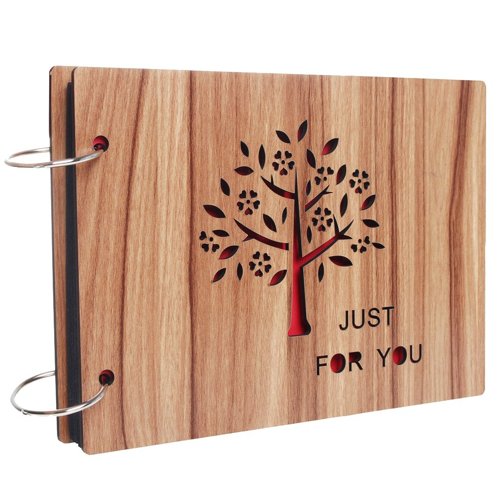álbum de fotos de madera