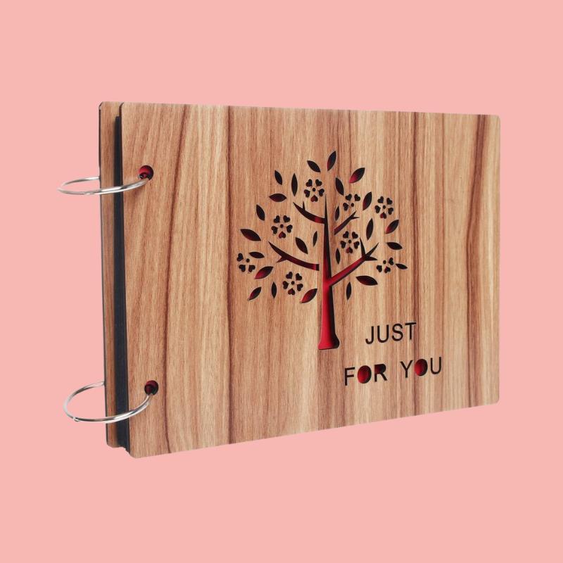 album de fotos madera